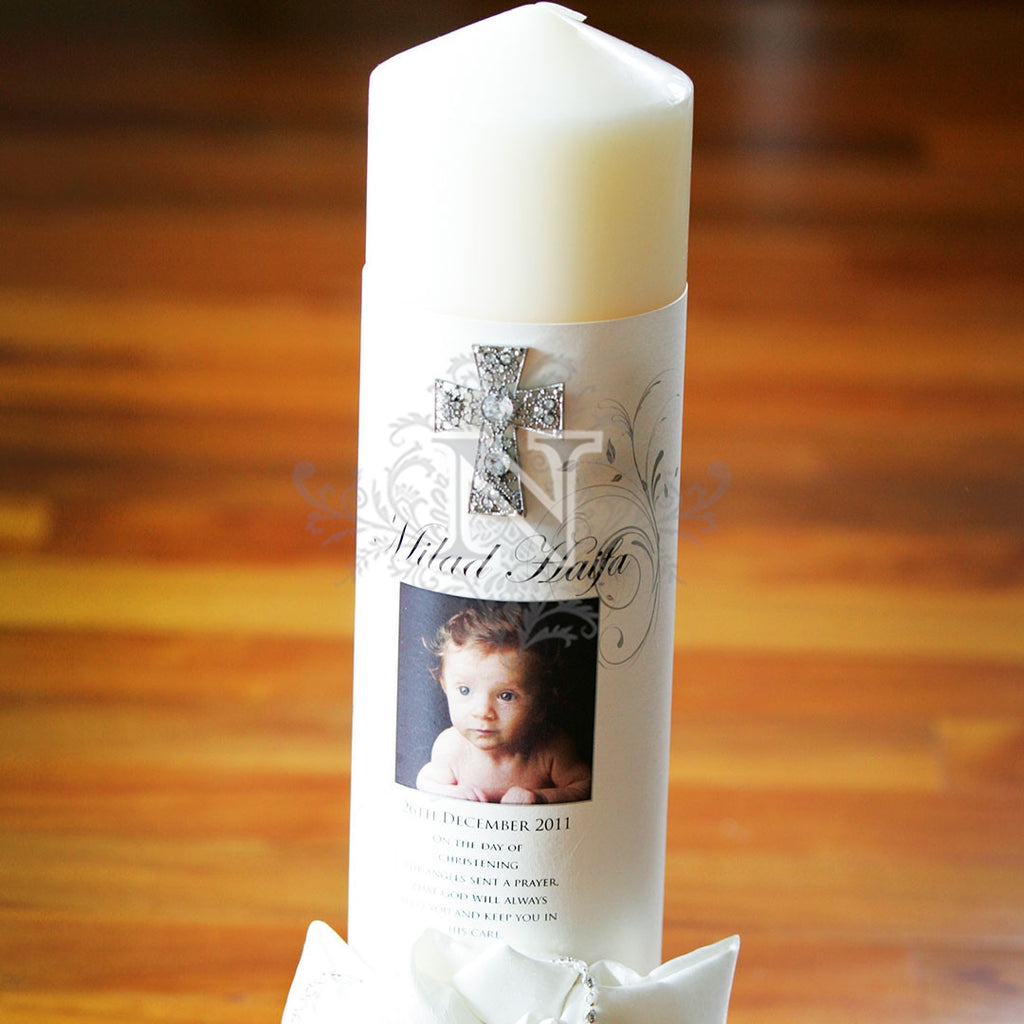 Milad christening candle