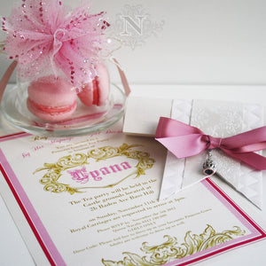 Princess Tyana Design invitation