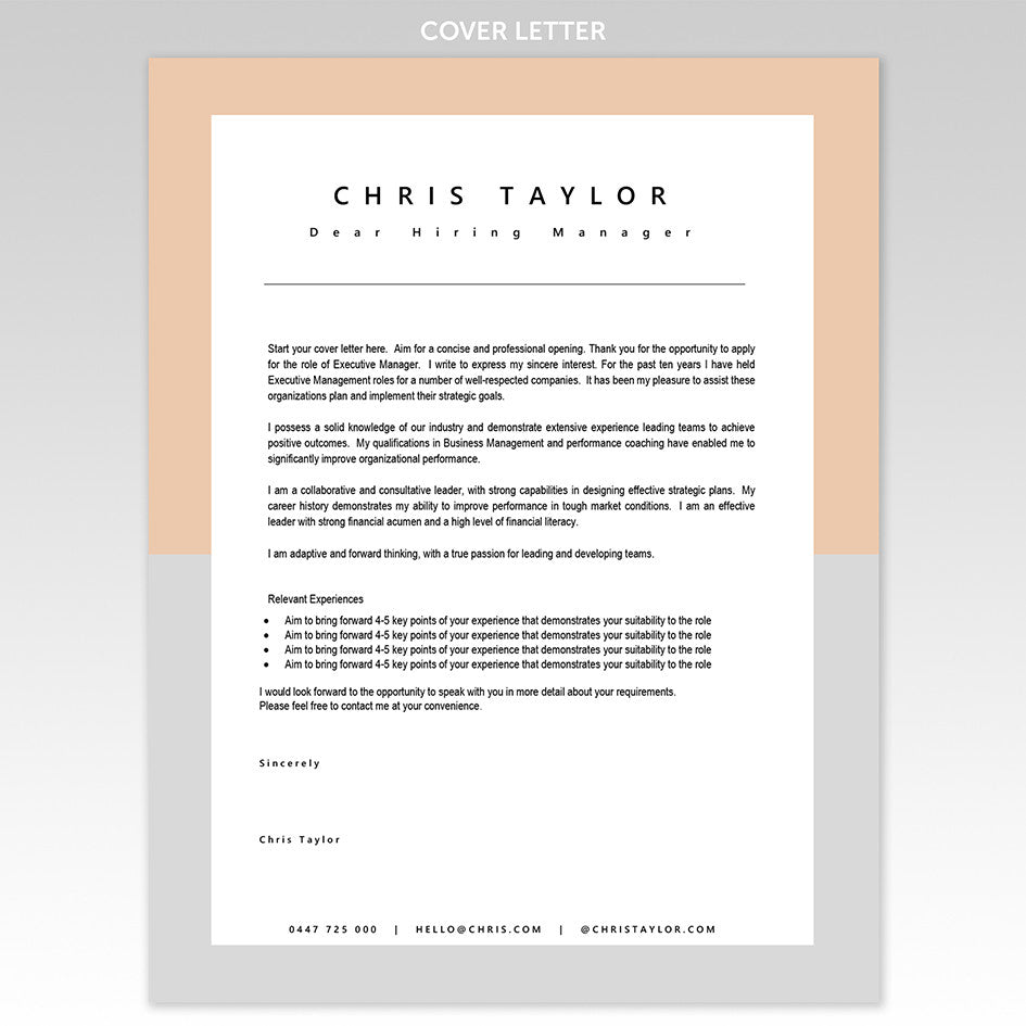 Great Cover Letter Templates Download One Today