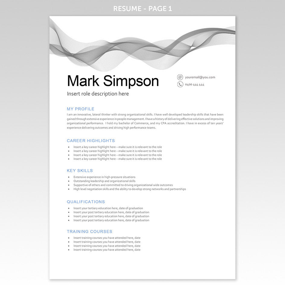 need a great resume our templates make you look great executive resume template grey banner