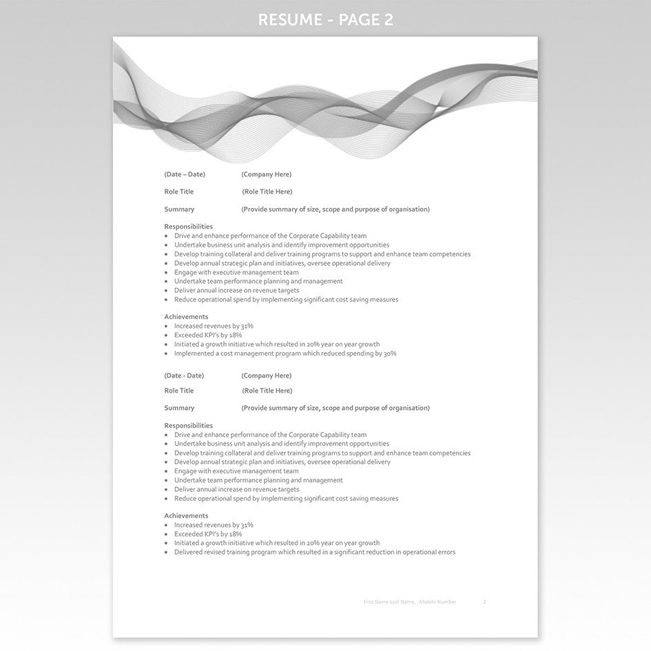 cover page resume cover letter s executive job sample resume cover page resume resume templates award winning executive cover letter resume template grey banner
