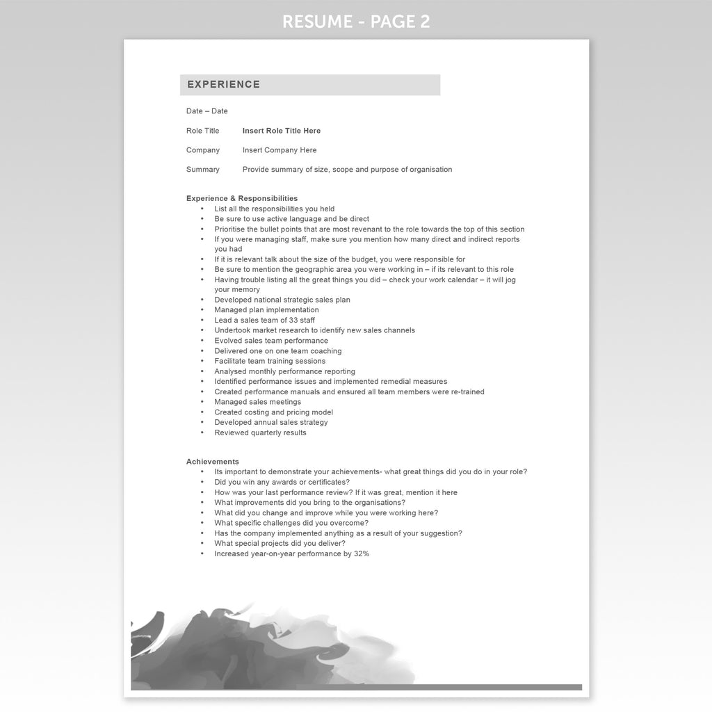 Fancy Resume Templates Word  Fancy Resume