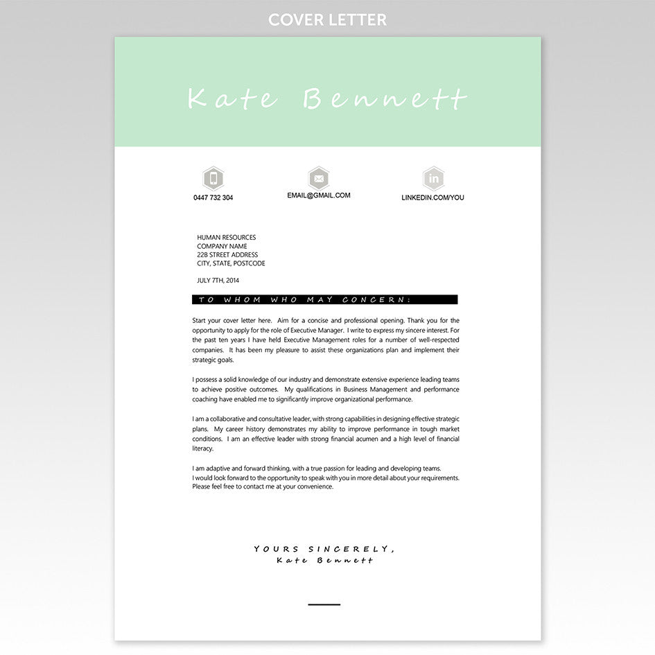 ... Resume an Cover Letter Templates – Executive Resume Templates