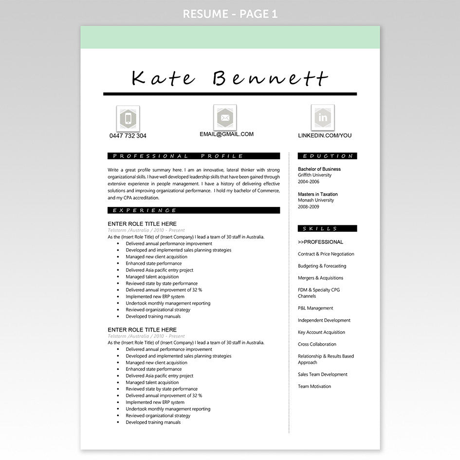 professional resume an cover letter templates executive resume cover letter resume template mint