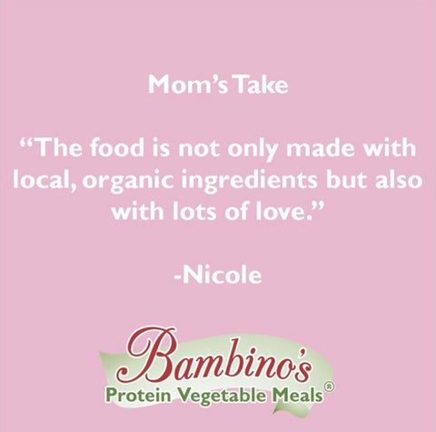 Mom leaves baby food review for bambinos the food is not only made with local organic ingredients but also with lots of love