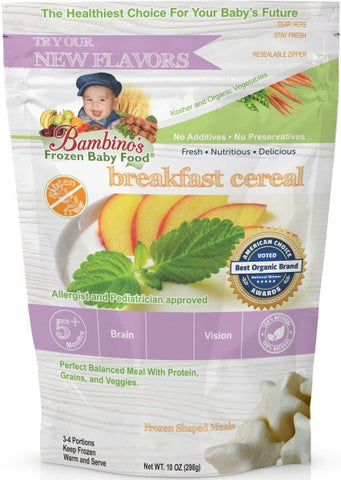 Breakfast Cereal, Bambinos Frozen Baby Food organic made healthy and delicious, 24 meals shipped to your door step nationwide. Best Baby Food