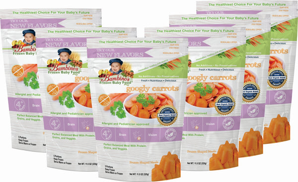 bambinos-frozen-baby-food-googly-carrots-frozen-shaped-meals six 6 pack what is in the order