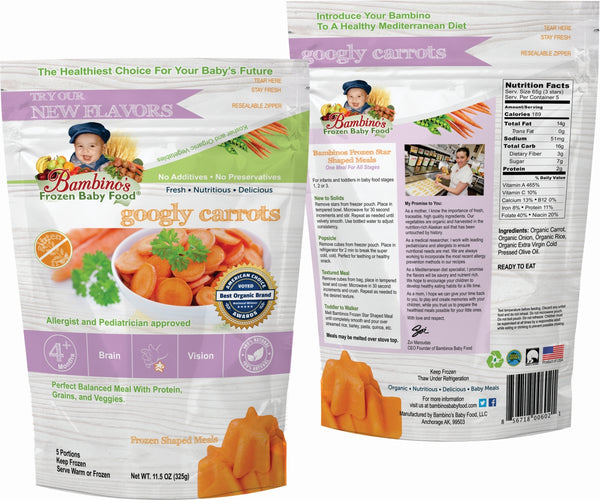 bambinos-frozen-baby-food-googly-carrots-frozen-shaped-meals front and back of package