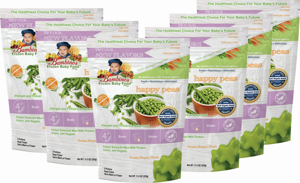 bambinos-frozen-baby-food-happy-peas-frozen-shaped-meals six 6 pack what is in the order