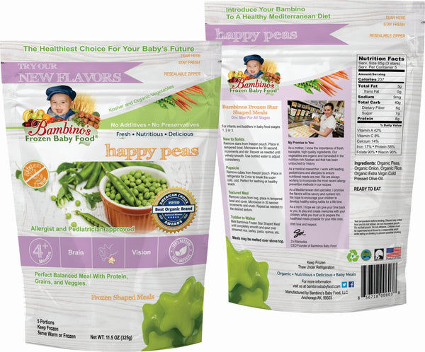 bambinos-frozen-baby-food-happy-peas-frozen-shaped-meals front and back of package