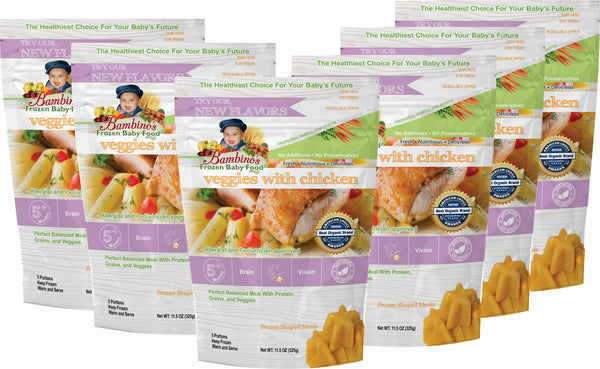 Bambinos Baby Food Frozen Star Shaped Meals - Veggies with Chicken best organic pure alaskan vegetables alaska subscription to your home six 6 pack what is in the order