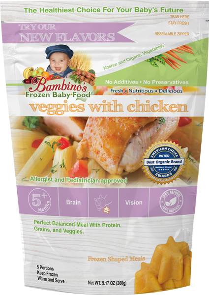Bambinos Baby Food Frozen Star Shaped Meals - Veggies with Chicken best organic pure alaskan vegetables alaska subscription to your home