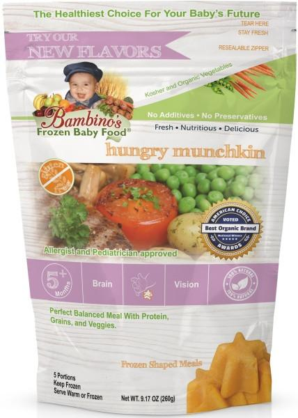 bambinos frozen baby food hungry munchkin frozen shaped meals organic
