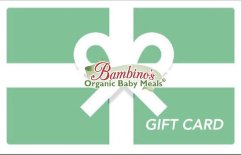 Organic baby infant food bambinos baby food gift card