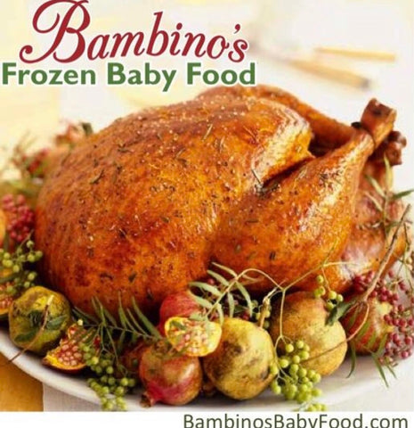 Bambinos Baby Food Holiday Organic Roasts for Bambinos of all ages, Alaskan Grown Turkey