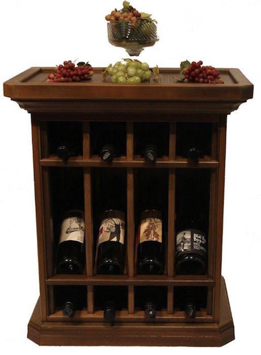 12 Bottle Wine Storage End Table