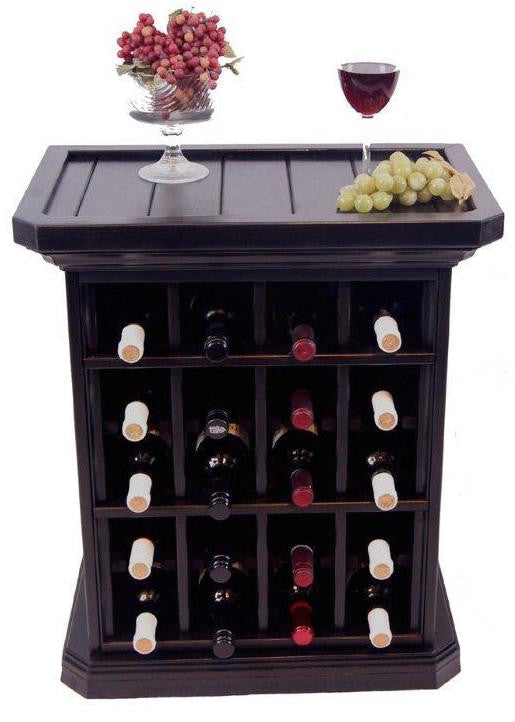 20 Bottle Wine Storage End Table