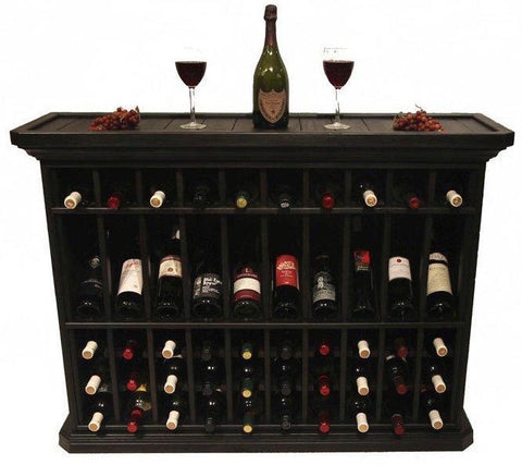 50 Bottle Wine Storage End Table