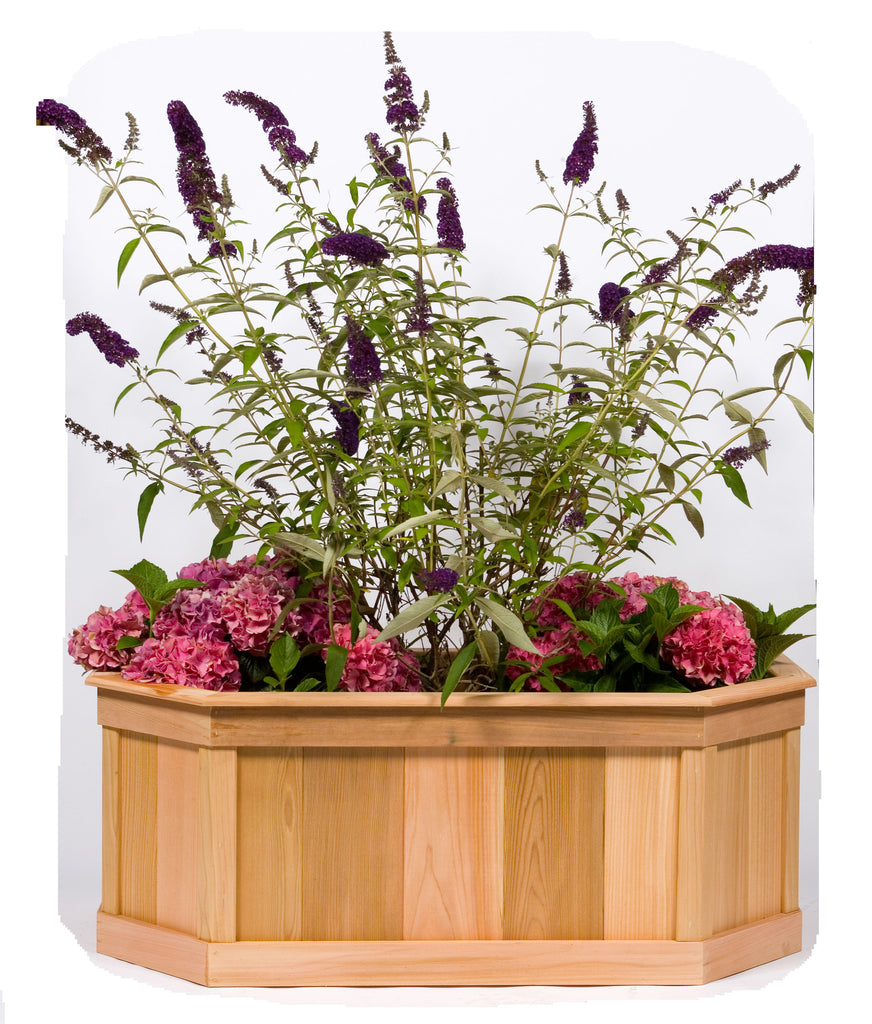 Small Stretched  6 Sided Cedar Planter