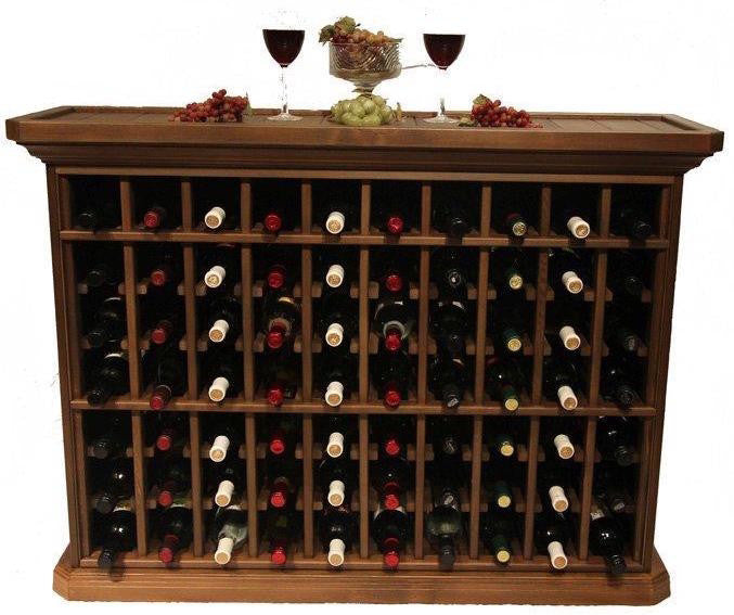 70 Bottle Wine Storage End Table