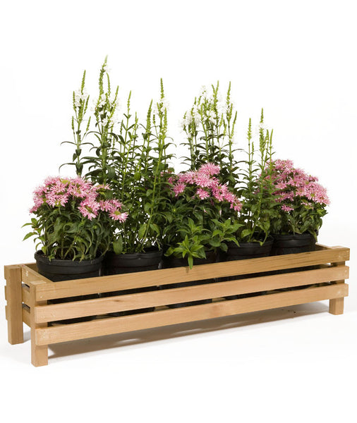 "28"" Horizontal Slotted Cedar Planter"