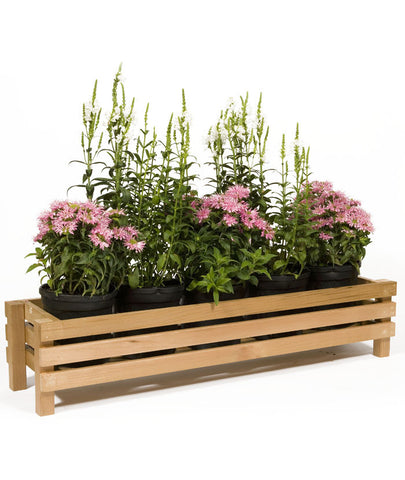 "52"" Horizontal Slotted Cedar Planter"