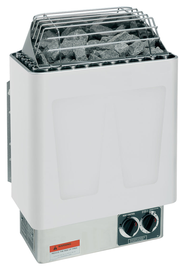 Harvia KIP60B 6KW Presented By Baltic Leisure: 6KW, 240V-1PH, 25 AMPS with Built In Controls