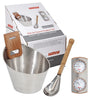 Harvia Stainless Steel Bucket Set