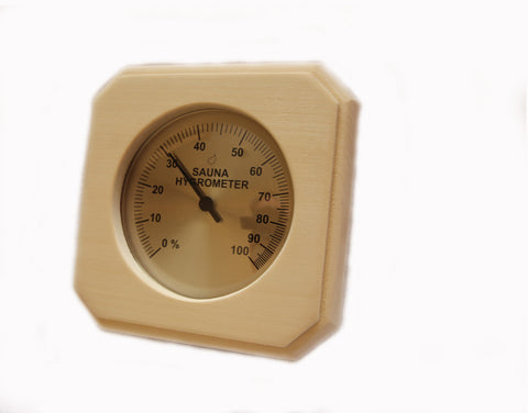 Sauna Deluxe Wood Hygrometer PS