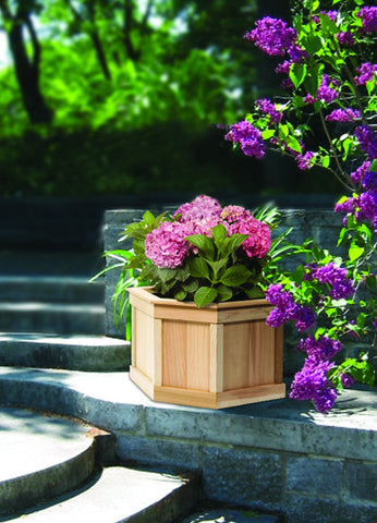 Large 5 Sided Cedar Planter