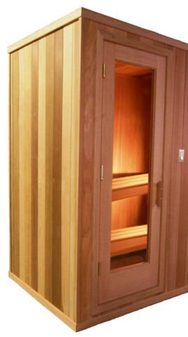 3 x 4 Silver Series Pre-built Sauna Package