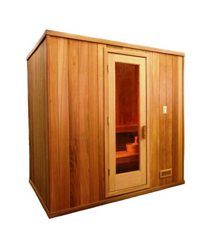6' x 8' x 7' Baltic Leisure Silver Series Pre-built Sauna Package