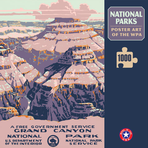Grand Canyon National Park Poster Art of The WPA 1000 Jigzaw Puzzle (Printed in USA) - Ziga Media