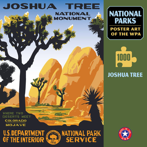 Joshua Tree National Park WPA 1000 Jigsaw Puzzle (Printed in USA)