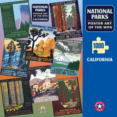 California Group National Parks WPA 1000 Jigsaw Puzzle (Printed in USA) - Ziga Media