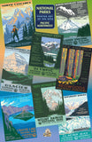 Pacific Northwest Group National Parks WPA 1000 Jigsaw Puzzle (Printed in USA) - Ziga Media