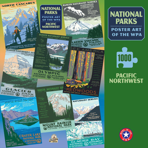 Pacific Northwest Group National Parks WPA 1000 Jigsaw Puzzle (Printed in USA)