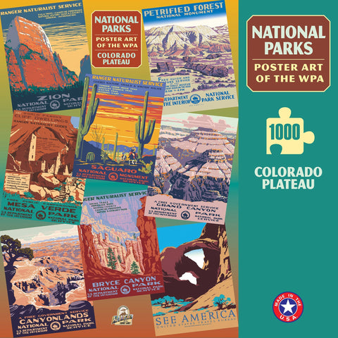 Colorado Plateau Group National Parks WPA 1000 Jigsaw Puzzle (Printed in USA)