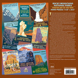 Rocky Mountains Group National Parks 1000 Jigsaw Puzzle (Printed in USA) - Ziga Media