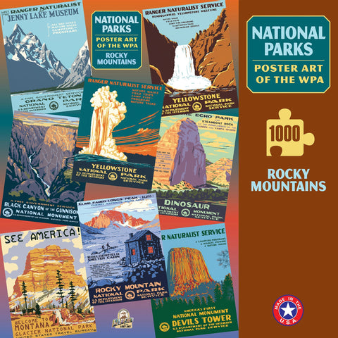 Rocky Mountains Group National Parks 1000 Jigsaw Puzzle (Printed in USA)