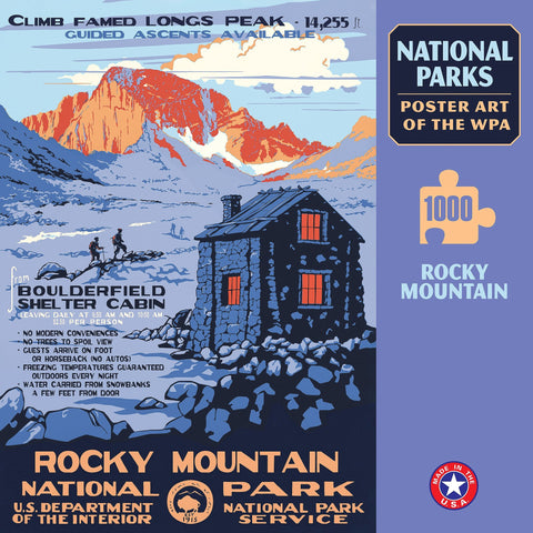 Rocky Mountain National Park WPA 1000 Jigsaw Puzzle (Printed in USA)
