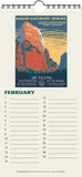 National Parks Poster Art of the WPA Perpetual Calendar Birthday Anniversary (Printed in USA)