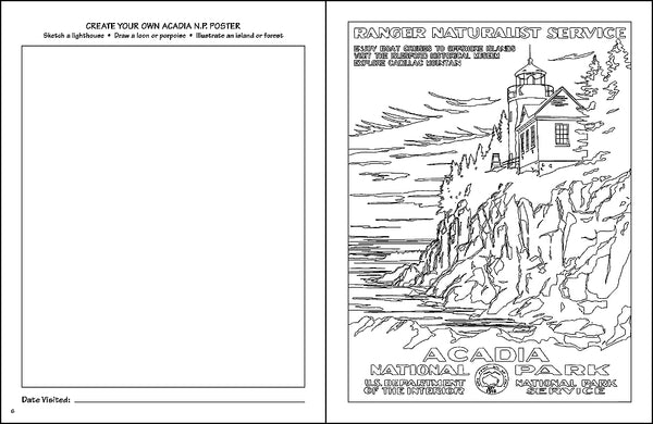 National Parks WPA Coloring Sketchbook