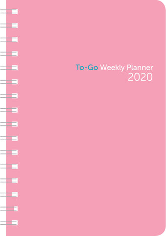 2020 Weekly To-Go 5x8 Wire-o Pink Plastic - Ziga Media