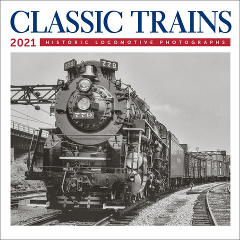 "Classic Trains Mini Wall Calendar 2021, 7"" x 7"""