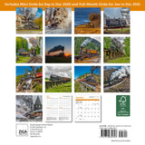 "Steam Trains Mini Wall Calendar 2021, 7"" x 7"""