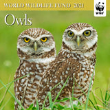 "WWF Owls Mini Wall Calendar 2021, 7"" x 7"""