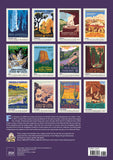 National Parks Poster Art of The WPA Oversize Wall Calendar 2021, 13.38'' x 19'' Spiral Bound with Hanger