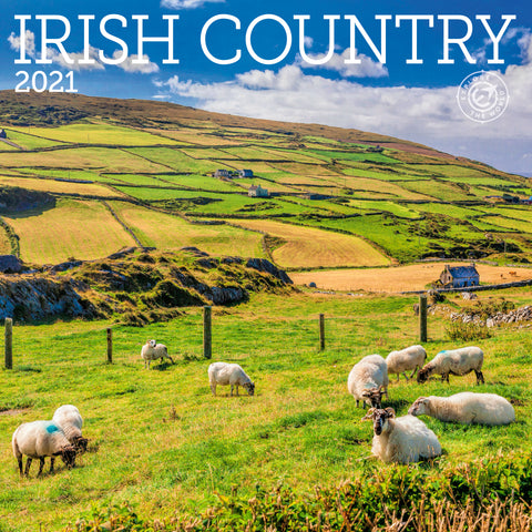 Irish Country Wall Calendar 2021, Monthly January-December 12'' x 12""