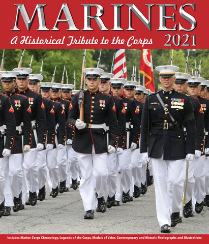 Marines Wall Calendar 2021, Monthly January-December 12'' x 14""
